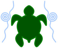 An icon turtle in water Royalty Free Stock Photos