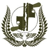 The icon with two Mauser Royalty Free Stock Photo