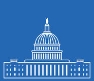 Icon of united states capitol hill building, vector  Royalty Free Stock Image