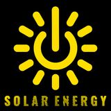 Icon uniting the sun and power signs Denoting the solar energy. Ecologically friendly electricity Renewable energy sources vector symbol royalty free illustration