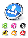 Icon upload. Collection clipart illustration Stock Photo