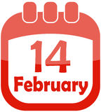 Icon valentine calendar Royalty Free Stock Photography