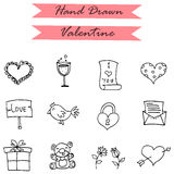 Icon of valentines day gift bird doll Stock Photography
