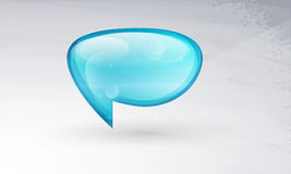 Icon Vector glass, a symbol of posts, comments. Stock Photo