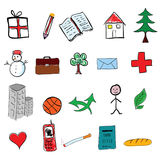 Icon vector illustration in color Royalty Free Stock Photography