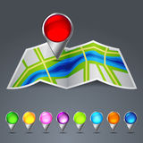 Icon vector map of the city Royalty Free Stock Images