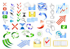 Icon vector set web design elements. Vector set of web design elements Royalty Free Stock Photo