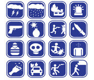 Icon of a vector violent set Stock Images