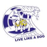 Live like a dog vector illustration
