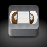 Icon for video cassette Royalty Free Stock Photos