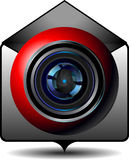 Icon video email Stock Image