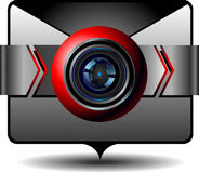 Icon video email Royalty Free Stock Photography