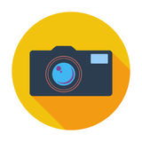 Icon vintage camera. Stock Photos