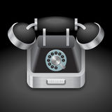 Icon for vintage phone Royalty Free Stock Images