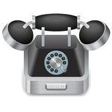 Icon for vintage phone Stock Photos