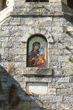Icon of the Virgin at the Belfry Troyan Monastery in Bulgaria Royalty Free Stock Photography