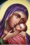 Icon of the Virgin and Child Stock Images