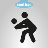 Icon of volleyball player on a gray background. Vector illustration Royalty Free Stock Photography