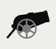 Icon war cannon illustrated Stock Image