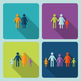 Icon warm family In modern style. Royalty Free Stock Photos