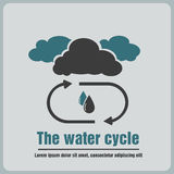 Icon the water cycle Stock Photos