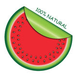 Icon watermelon slice with  with rolled corner Royalty Free Stock Image