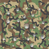 Icon of waterproof camouflage fabric. Royalty Free Stock Photos