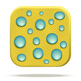Icon of waterproof fabric. Royalty Free Stock Photos