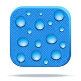 Icon of waterproof fabric. Stock Photography