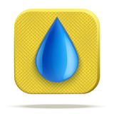 Icon of waterproof material. Royalty Free Stock Image