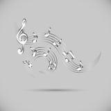 Icon of wavy music Royalty Free Stock Photos