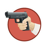Icon Weapon pistol Stock Images