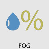 Icon weather fog mist Stock Photo