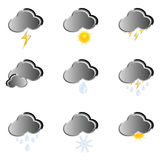 Icon for weather forecast. Vector illustration on a white background Royalty Free Stock Image