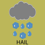 Icon weather hail Stock Photos