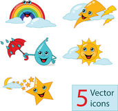 Icon weather lovely nurseries. Vector illustration Stock Photography