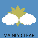 Icon weather mainly clear Royalty Free Stock Image