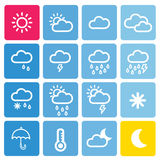 Icon weather set Royalty Free Stock Image