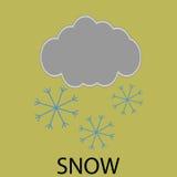 Icon weather snow Royalty Free Stock Photo
