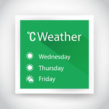 Icon of weather for web and mobile applications Royalty Free Stock Image