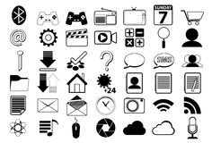 Icon For Web Black and white Royalty Free Stock Image
