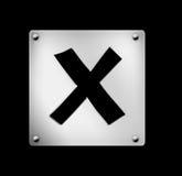 Icon, web button. Button, icon, web button, true, false, right, wrong, illustration Stock Image