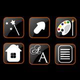 Icon Web Design Royalty Free Stock Photography