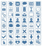 Icon web set vector Stock Image