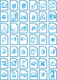 Icon for web site. Many icons are for your excellent site Stock Photo