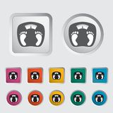 Icon weights. Royalty Free Stock Image