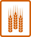 Icon with wheat ears Royalty Free Stock Photography
