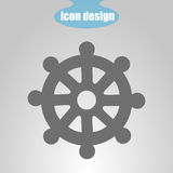 Icon wheel of of Dharma on a gray background. Vector illustration. Buddhist symbol. Icon  wheel of of Dharma on a gray background. Vector illustration. Buddhist Stock Photos