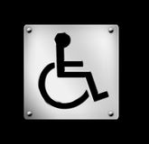 Icon, wheelchair, hospitals, illustration. Wheelchair icon useful in hospitals/medical health centres Royalty Free Stock Images