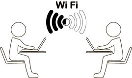 Icon wi fi Stock Photos